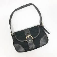 Coach Black Monogram Mini Handbag