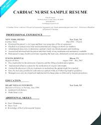 Sample Cardiac Nurse Resume Telemetry Technician Sample Resume Ruseeds Co