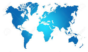 Map Of The World Background Blue World Map World Background Stock Photo Picture And Royalty