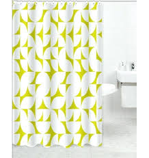 geometric patterned shower curtains
