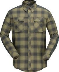 <b>Рубашка</b> мужская <b>Norrona Svalbard</b> Flannel Olive Drab/Slate Grey ...