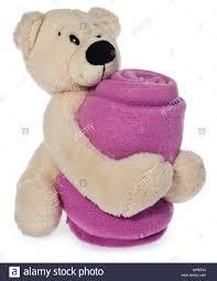 Bright Plush Teddy Bear Holding Pink Baby Blanket A Mascot