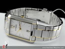 buy citizen quartz two tone rectangle mens dress watch bd0034 50a citizen quartz two tone rectangle mens dress watch bd0034 50a