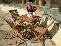 70cm teak square folding table with 4