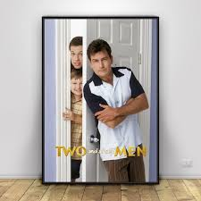Lovely Two And A Half Men Art Silk Poster Home Decor 12x18 24x36inch
