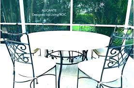 outdoor stone dining table round