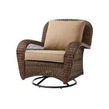 beacon park wicker outdoor swivel lounge chair with toffee cushions