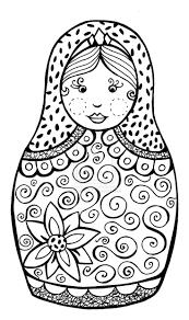 Babushka Doll Coloring Page