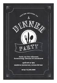 Chalk Board Dinner Party Invitation Template Customize Add Text Custom Free Dinner Invitation Templates Printable