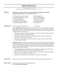 Sample Resume For Marketing Job Marketing Resume Formats Sample Word Format Doc Digital For 5