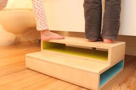 7 fun, modern, handmade wooden step stools for kids. Because nice ones are