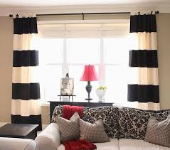 wide array in black and white curtains dry room ideas