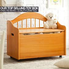 kidkraft limited edition wooden toy box and bench with handles and safety hinges cherry walmart