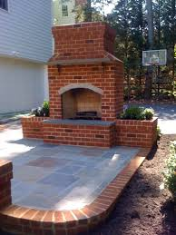 outdoor fireplace to go on brick patio with future pergola