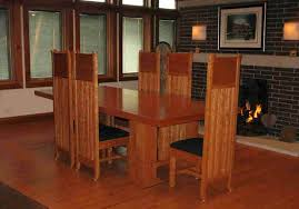 frank lloyd wright and stickley inspired tables chairs sideboards and other dining furniture custom made at affordable s