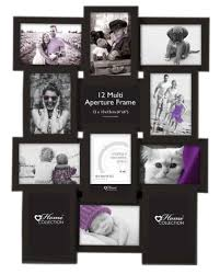 multi aperture photo picture frame holds 12 x 6 x4 photos