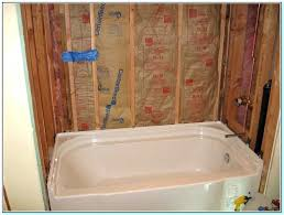 installing a bathtub how to install bathtub wall surround with window replace bathtub spout