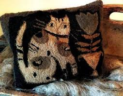 Best 25+ Primitive quilts ideas on Pinterest | Quilting, Country ... & cat pillow by Misi (Notforgotten Farm - Blue Belle) from spring issue of Primitive  Quilts and Projects magazine Adamdwight.com