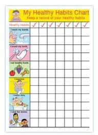 Chart On Healthy Habits Healthy Choice Habits Chart Science