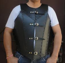 details about leather armor jacket vest meval knight crusader armor helloween
