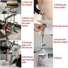 chrome solid <b>brass glass</b> faucet <b>waterfall</b> bathroom kitchen basin ...