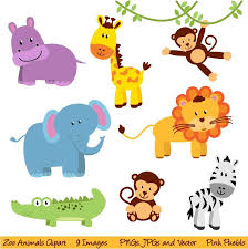 zoo animals clipart. Beautiful Zoo Zoo Animals Clipart Clip Art New Jungle Art   Commercial And Personal Use 600 Via Etsy To O