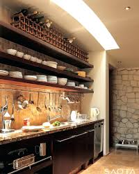 wine rack in kitchen cabinets built above cabinet design oak full size