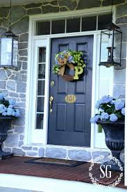 initial wreaths for front doorSUMMER HYDRANGEA WREATH DIY  StoneGable