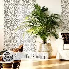 paisley furniture. Image Is Loading TAJ-MAHAL-Paisley-Furniture-Wall-Floor-Stencil-for- Paisley Furniture