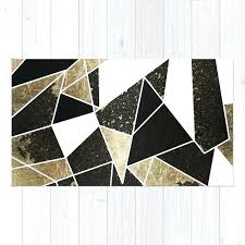 modern rustic rugs modern rustic black white and faux gold geometric rug modern rustic rugs
