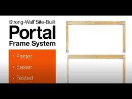 site built portal frame system for