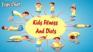 Yogic Chart For Kids Fitness And Diets English Youtube