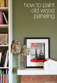 how to paint old wood paneling from janemaynard