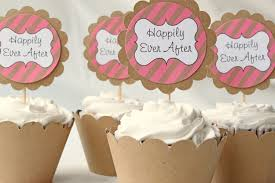 Amazing Wedding Cupcake Toppers With Bridal Shower Cupcake Toppers