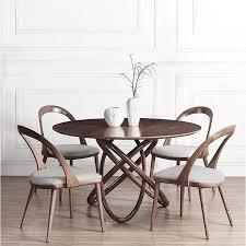 <b>Nordic Wooden</b> Restaurant Furniture <b>Artistic</b> Round Dining Table ...