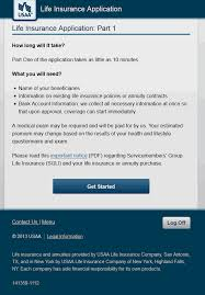mobile usaa electronic life insurance quote signature page