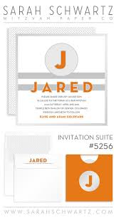 best images about j judy typography jessica a modern sporty orange and gray bar mitzvah invitation suite stripes