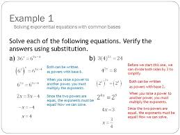example 1 solve each of the following equations verify the answers using substitution