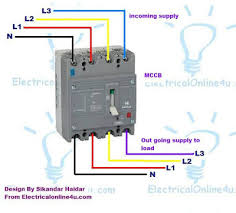 how to installing mccb molded case circuit breaker 3 pole and 4 pole how to installing mccb molded case circuit breaker 4 phole