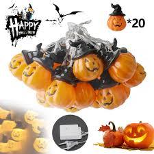 Pumpkin Yard Light Cover Amazon Com Invechi Halloween Pumpkin String Lights