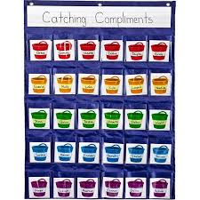 Carson Dellosa Deluxe Scheduling Pocket Chart Carson Dellosa Positive Reinforcement Pocket Chart 1 Pocket Chart 30 Cards