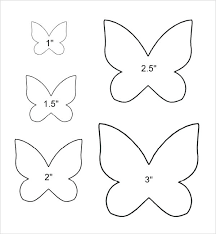 Outline Of A Butterfly To Color Printable Butterfly Template