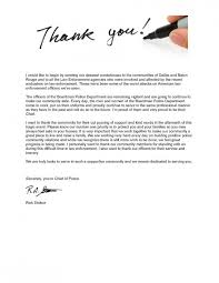 Professional Thank You Letter Mesmerizing A Letter Of Thank You From The Chief Of Police The City Of