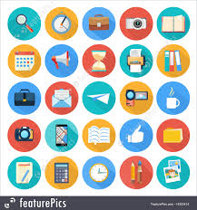 Emblems And Symbols Business And Office Icons Stock Illustration