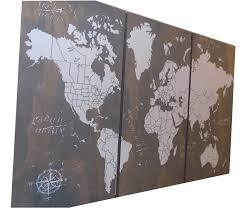 extra large world push pin travel map with us borders '