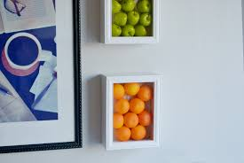 on wall art ideas for kitchen with colorful kitchen wall art with fake fruits