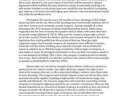 gun control essays sample english essay summary on gun control persuasive essay on anti gun control mfacourses887webfc2com