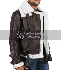 new winter fashion faux fur fleece wool lined mens luxury slim brown leather coat side