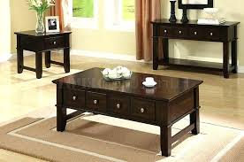 black coffee table set end tables with drawers popular black coffee table set with within sets