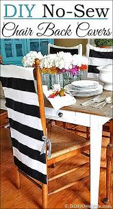 diy table runner no sew no sew chair back slipcover from in my own style